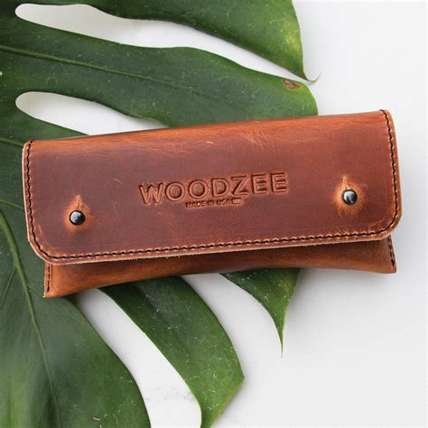 handmade leather brown leather made in usa woodzee