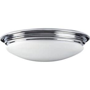 Avon Flush Mount Bathroom Ceiling Light by Ip44 Flush Mounted Bathroom Ceiling Light Chrome With Opal Shade
