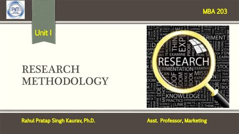 Mba Research Methodology by Unit 1 Research Methodology