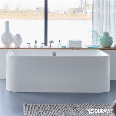 2 wall bathtub duravit happy d 2 bath back to wall version l 180 w 80 h