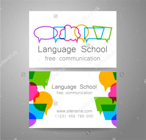 school business cards templates free 31 school business card templates free premium