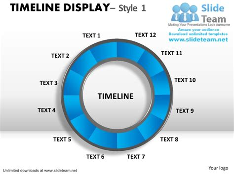 Circular Timeline Chart Power Point Slides And Ppt Templates Circular Timeline Template