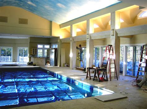 inside pools modern mansion with indoor pool with slides and great