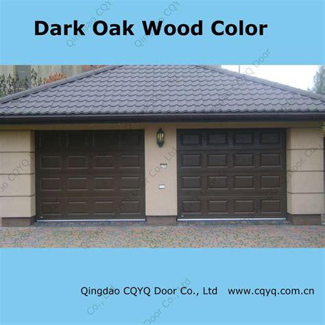 China Dark Oak Color Garage Door China Garage Door Garage Door Colors