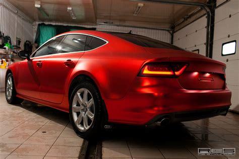 Hexis Folie Chrom by тюнинг Audi A7 в отделке Red Satin Chrome фотогалерея