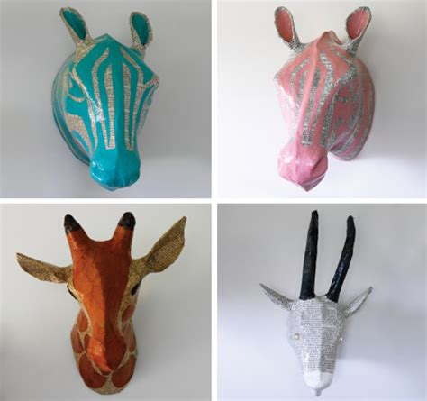 How To Make Large Paper Mache Animals - cat 183 ty 183 wam 183 pus 183 to buy or diy papier m 226 ch 233 animal heads