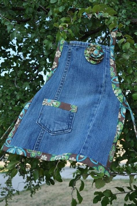 pattern for blue jean apron jean apron diy home cuteness sew on pinterest
