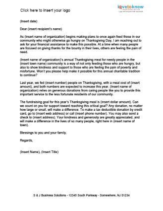 meals   needy fundraising letter   letter