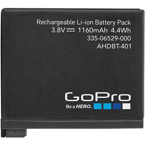 Baterai Gopro 4 gopro rechargeable battery for hero4 ahdbt 401 b h photo