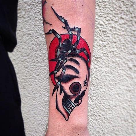 traditional spider tattoo spider skull traditional spider tattoos