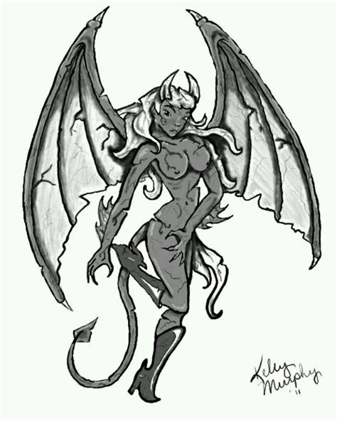gargoyle queen tattoo flash design my work pinterest