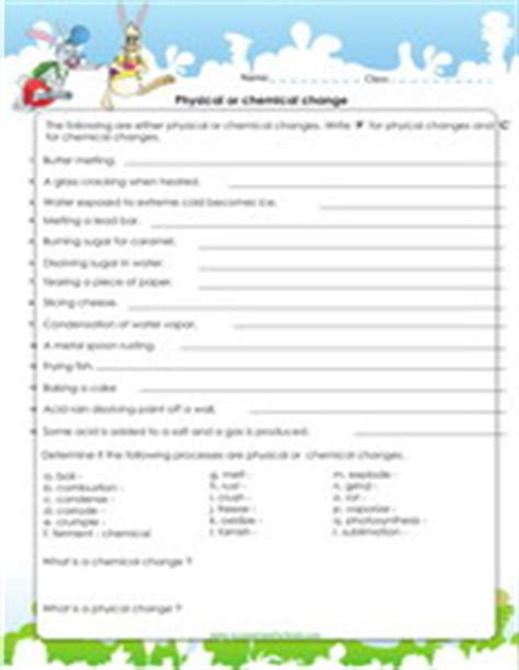 Physical And Chemical Changes Worksheet 4th Grade by 4th Grade Science Worksheets Pdf Printable