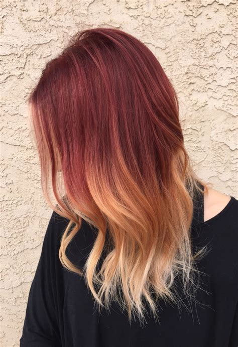 red to blonde ombre bob best 25 red blonde ombre ideas on pinterest red to