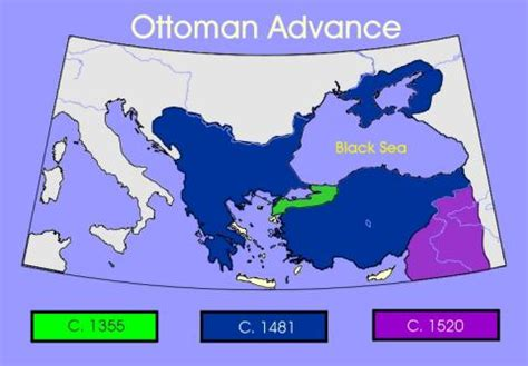 ottoman geography ottoman movement 1355 1481 1520