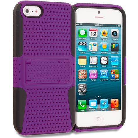 hybrid mesh heavy duty color cover with stand for iphone 5 5g 5s ebay