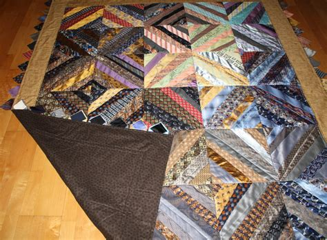Quilt Made From Ties by Necktie Quilt Made Using 40 Neckties