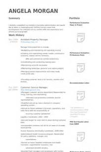 assistant manager cv template assistant property manager resume sles visualcv