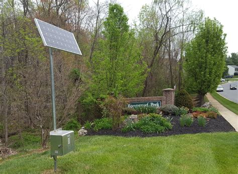 solar powered landscape lighting chesapeake irrigation