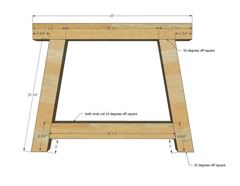 diy table legs 4x4 white 4x4 truss beam table diy projects