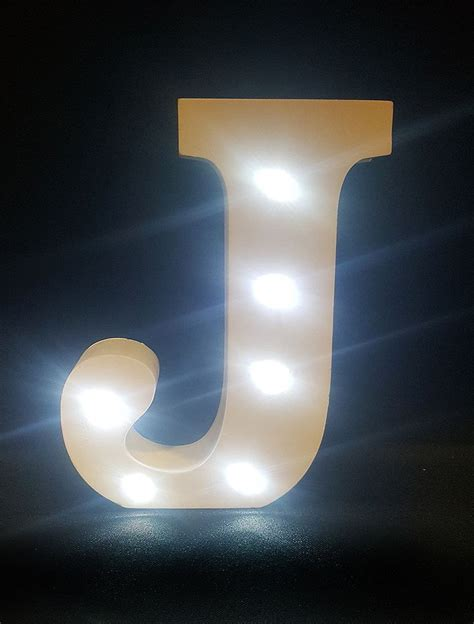 j up letter buy wooden led light up letter white j from chair cover