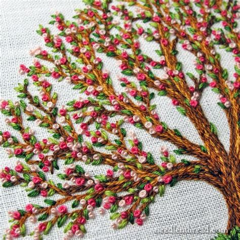 embroidery tree the three stitch bloomin tree embroidery