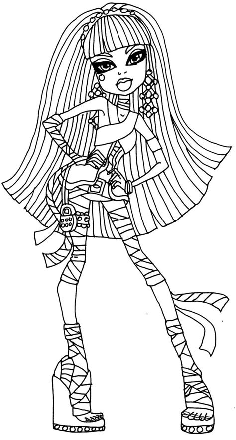 monster high coloring pages cleo de nile dawn of the dance cleo de nile by elfkena on deviantart