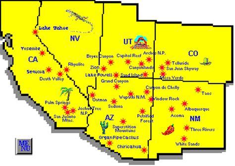 map of southwest usa usa southwest map