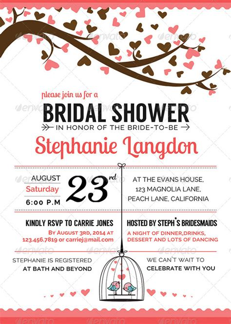 bridal shower template 25 bridal shower invitation templates free