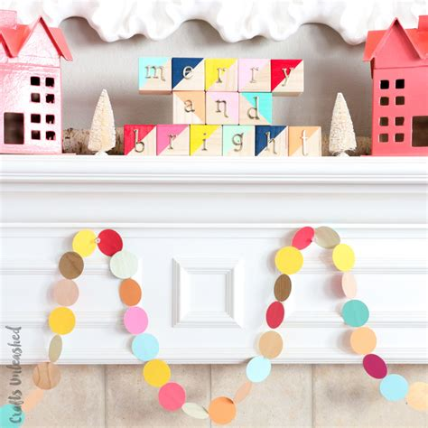 christmas garland diy easy colorful consumer crafts