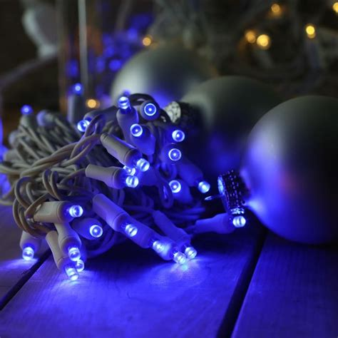 lights blue white wire 50 blue 5mm led white wire