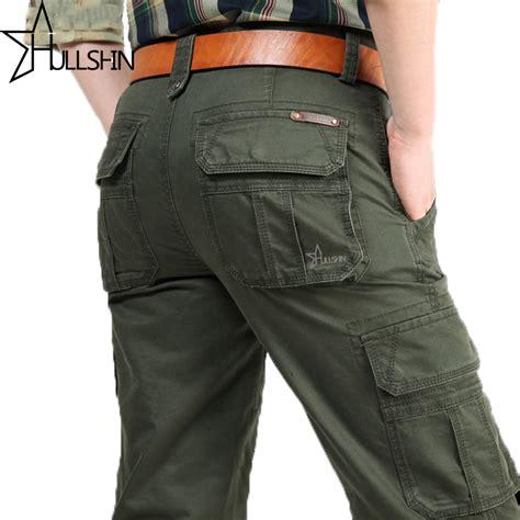 Joger Cargo Dc Biru Navy 33 38 2018 brand mens fashion cargo multi pockets baggy casual trousers