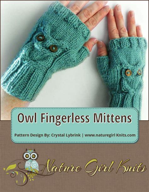 owl fingerless gloves knitting pattern chunky hand knitting pattern owl cable knit fingerless mittens pdf