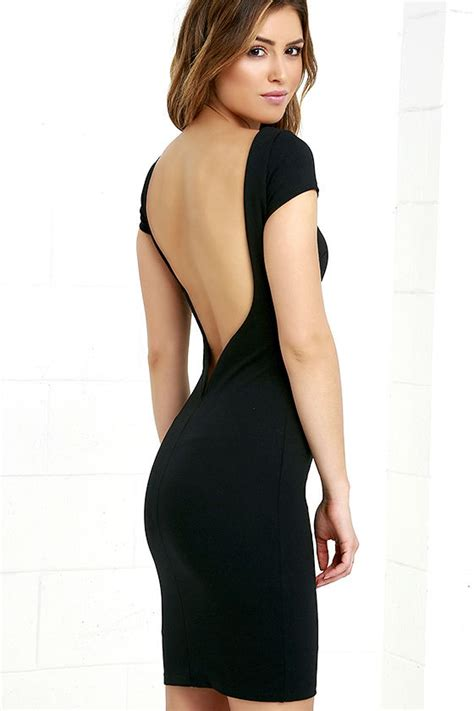Daring Backless Dresses by Black Dress Lbd Backless Dress Bodycon Dress