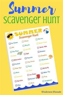 scavenger hunt printable summer scavenger hunt