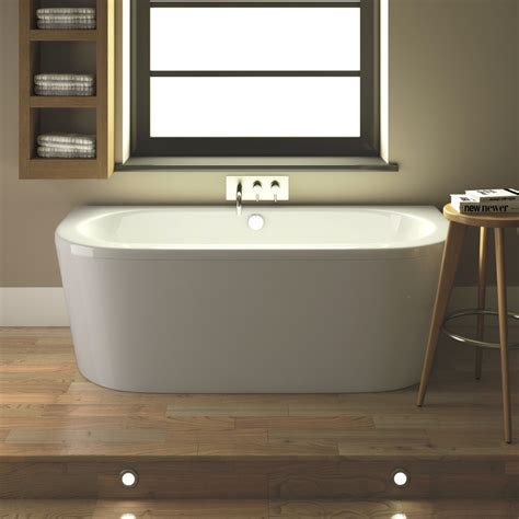 hudson bathrooms hudson reed ludlow back to wall bath with front panel