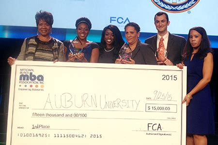 Mba National Conference 2015 by Harbert College Team Takes Second At National Black Mba