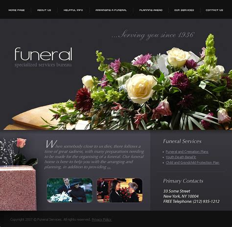 funeral services website template 15232