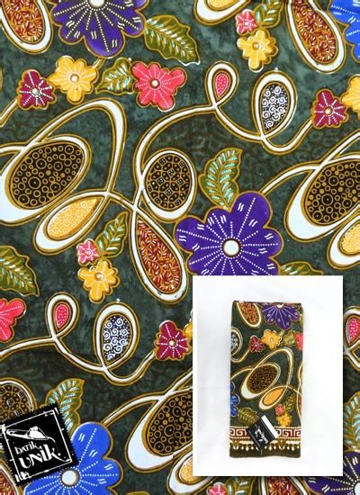 Batik Tulis Kontemporer kain batik katun primis semi tulis motif kontemporer