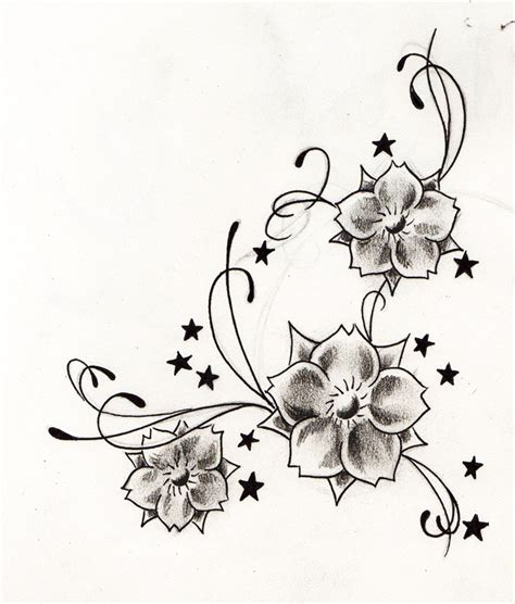 tattoo flower stars designs girls flower and star tattoo tattoo design ideas