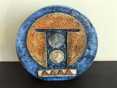 Troika Wheel Vase by Stunning Troika Wheel Vase Signed Mb Baker C 1970