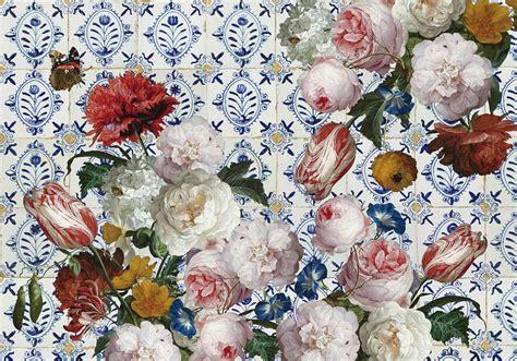 bloemen behang kinderkamer bloemen behang grote bloemen geprint op behang op maat