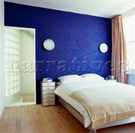 cobalt blue bedroom a bedroom with cobalt blue painted brick wall client
