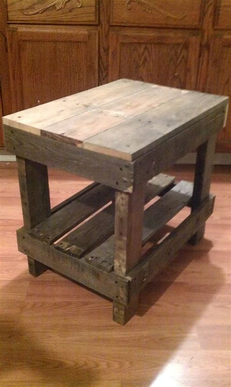 diy wood end table pallet wood end table pallet diy the end