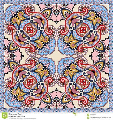 S4 Satin Motif 2 silk neck scarf or kerchief square pattern design stock vector image 46401993