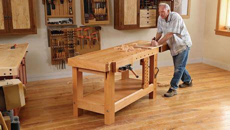 build  heavy duty workbench finewoodworking