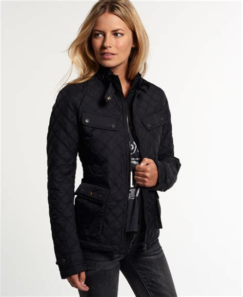 Black Womens Quilted Jacket by Womens Apex Quilted Jacket In Black Superdry