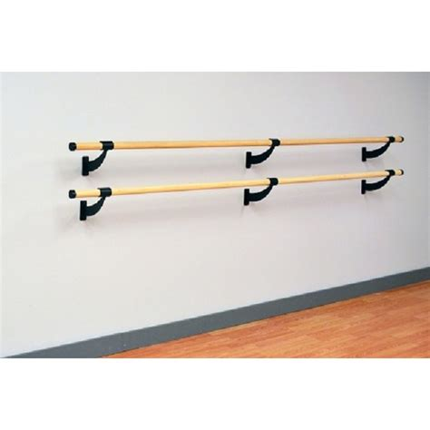 wall mounted double ballet barre traditional wood double bar wall mount ballet barre system
