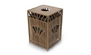series decorative outdoor trash can 32 gallon