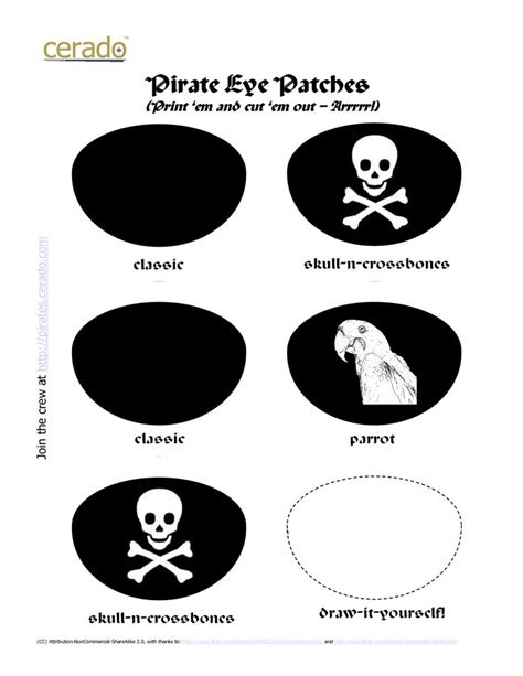 pirate eye patch template eye patch clipart printable pencil and in color eye
