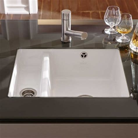 undermount ceramic kitchen sinks villeroy boch subway xu alpine white ceramic 1 5 bowl